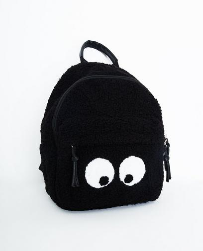 Sac à dos noir en teddy